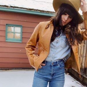 Jackets & Blazers - Vintage whiskey Italian leather jacket